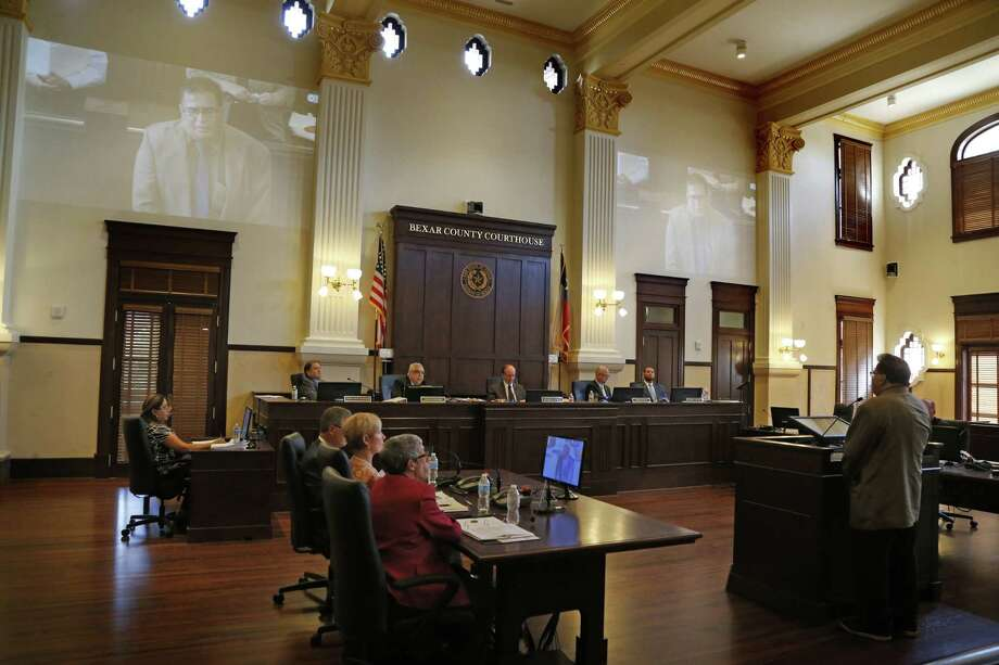 The Bexar County Comissioner's Court, shown here on July 11, will have the final say next week on a University Health System proposal to give senior citizens a tax break. Photo: Ron Cortes /Ronald Cortes / Freelance