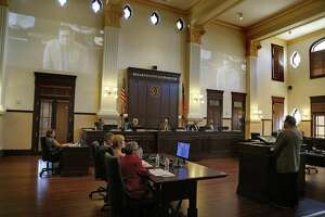 The Bexar County Comissioner's Court, seen in 2017, on Tuesday approved a citizens advisory committee's recommendation to raise their salaries by 7.1 percent for the 2019 fiscal year.
