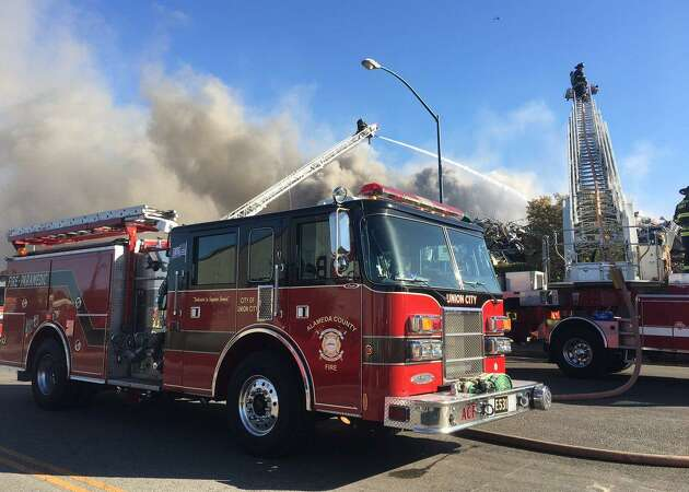 Fire at San Leandro salvage yard under control after hours