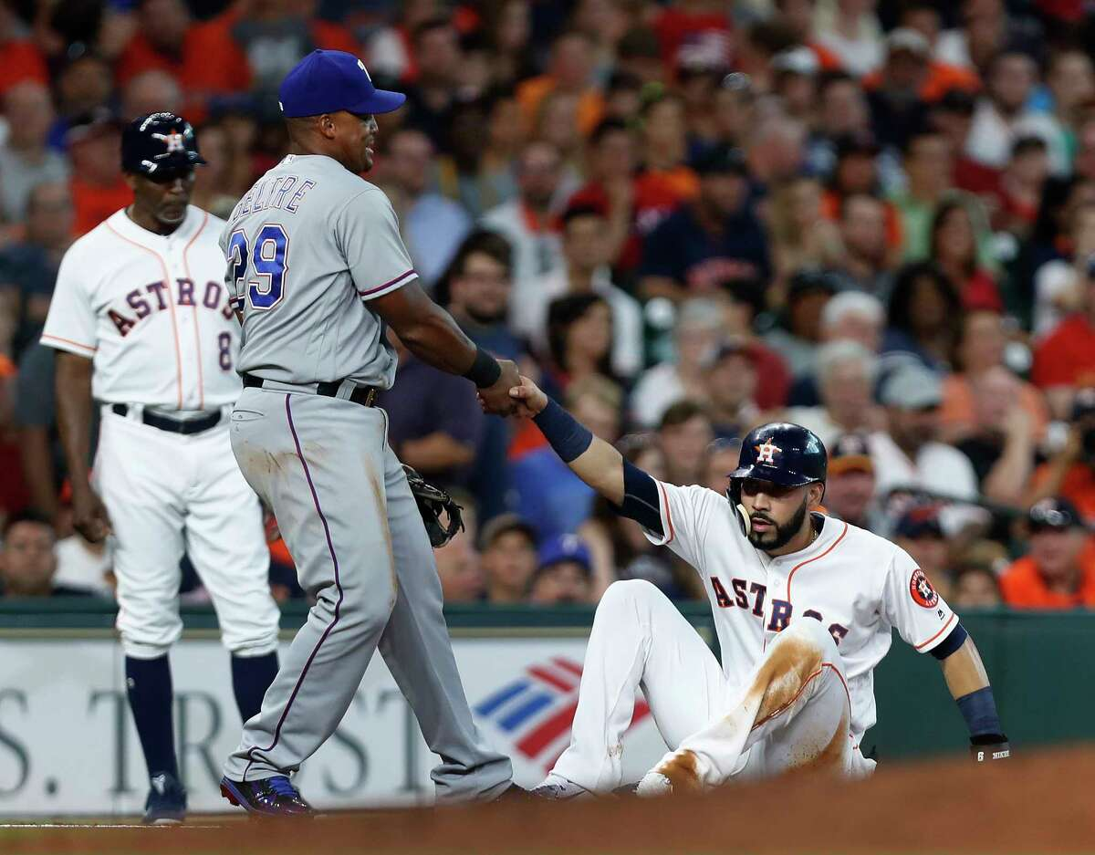 Adrian Beltre may be willing to give Marwin Gonzalez a helping hand, but the rivalry with the Rangers is becoming more intense, thanks to the Astros' move to the AL.