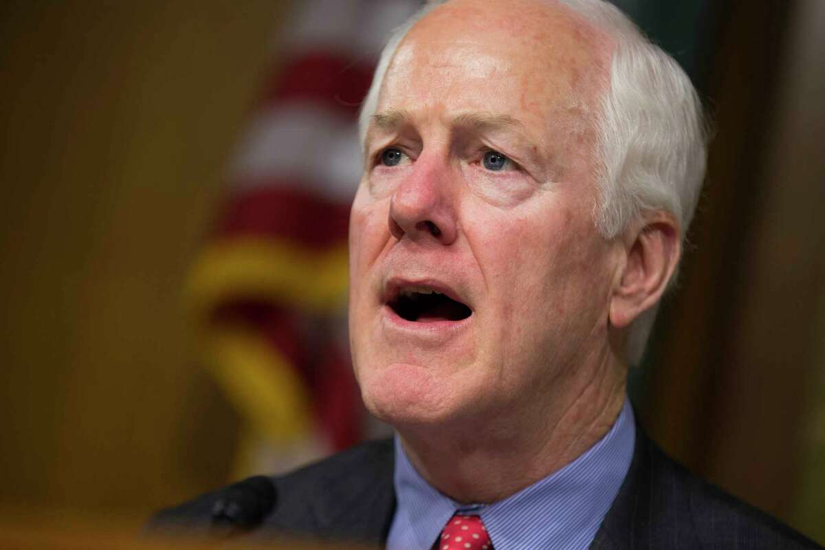 """FILE - In this June 7, 2016, file photo, Sen. John Cornyn, R-Texas speaks on Capitol Hill in Washington. Congressional Democrats are warning that Speaker Paul Ryan and President-elect Donald Trump are gunning for Medicare _ and they are rubbing their hands in glee at the prospect of an epic political battle over the governmentÂ?'s flagship health program that covers 57 million Americans. It turns out that Republicans, especially in the Senate, are not spoiling for a fight. Â?""""We are not inclined to lead with our chin,Â?"""" said Cornyn of Texas. Â?""""And right now, weÂ?'ve got a lot on our plate.Â?"""" (AP Photo/Evan Vucci, File)"""