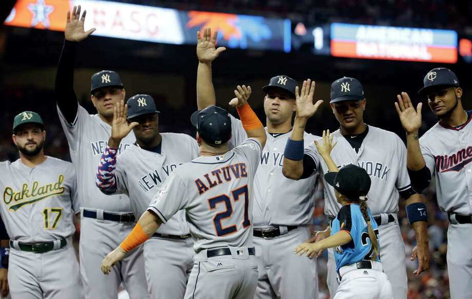 PHOTOS: The case for these Astros to make the All-Star Game Jose Altuve led a club-record six Astros into last year's All-Star Game. Can this year's team eclipse that feat? Browse through the photos above for a look at all the All-Star worthy Astros. Photo: Lynne Sladky, Associated Press / Copyright 2017 The Associated Press. All rights reserved.