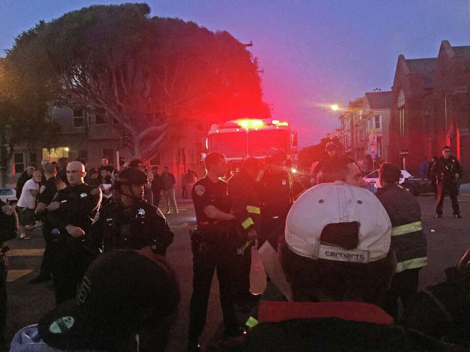 An informal skateboarding competition turned disruptive, bloody and then confrontational July 11, 2017 at Dolores Park in San Francisco when police rushed in to break up the show and a crowd of nearly 400 faced off with them. Photo: Michael Bodley, The Chronice / Michael Bodley / The Chronicle