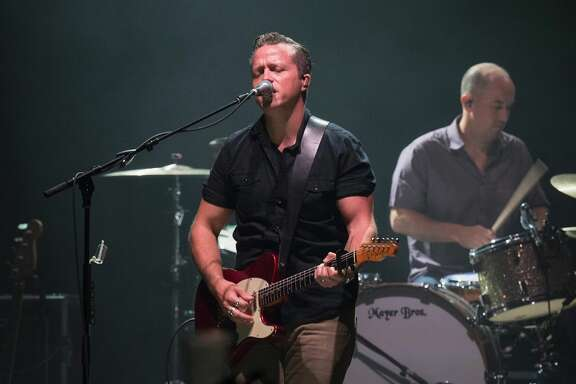 NEW YORK, NY - JUNE 23:  Jason Isbell (L) and Chad Gamble perform at Beacon Theatre on June 23, 2017 in New York City.  (Photo by Erika Goldring/Getty Images)