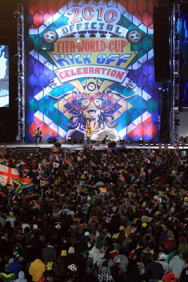 JOHANNESBURG, SOUTH AFRICA - JUNE 10: General view of the Orlando Stadium during the kick-off celebration concert for the 2010 FIFA World Cup at the Orlando Stadium on June 10, 2010 in Soweto, South Africa. (Photy by Martin Rose/GettyImages) Photo: Martin Rose, Getty Images / 2010 Getty Images