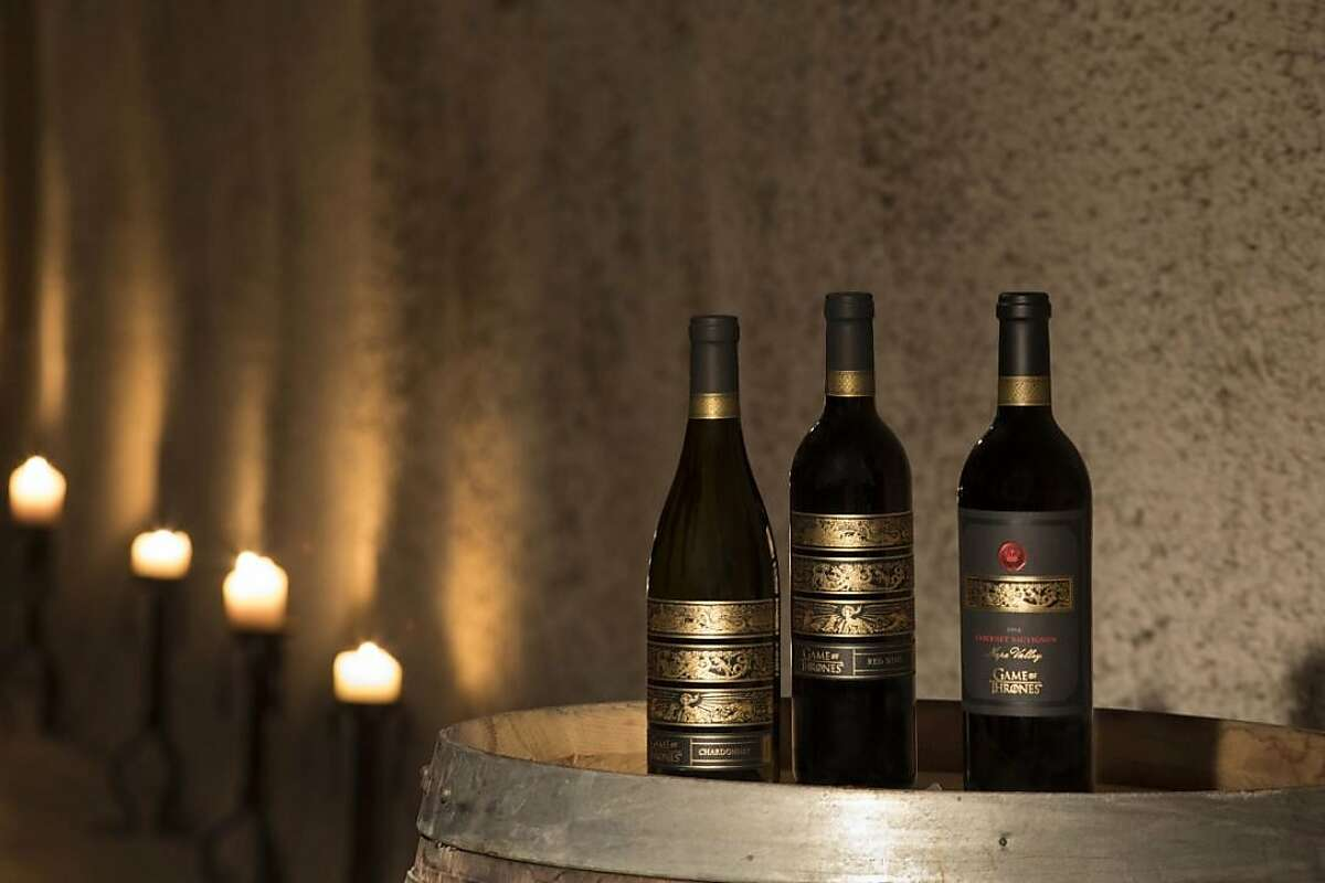 A trio of specialty 'Game of Thrones' wines - a Chardonnay, a red blend and a Cabernet - can be purchased at a variety of wine stores.