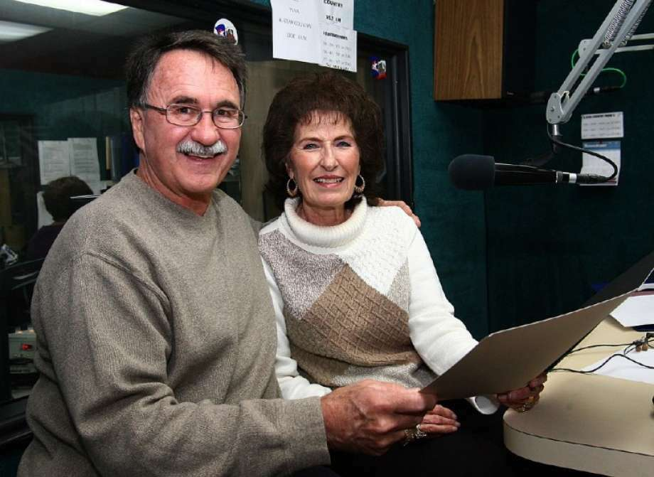 """Former Conroe Mayor Webb Melder joins longtime radio personality Mary McCoy on """"The Larry and Mary Show"""" to present her a proclamation naming the day """"Mary McCoy Day"""" in Conroe. McCoy was inducted into the Texas Radio Hall of Fame in November 2010. She continues on air today at K-Star Country radio."""