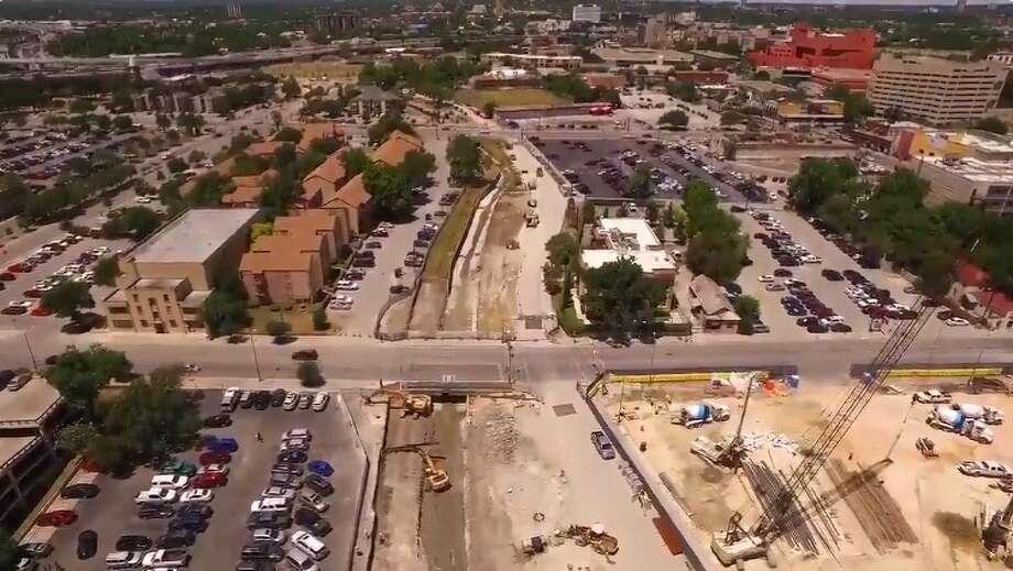 Photos show progress on the San Pedro Creek Improvement Project July 10, 2017 Photo: San Antonio River Authority
