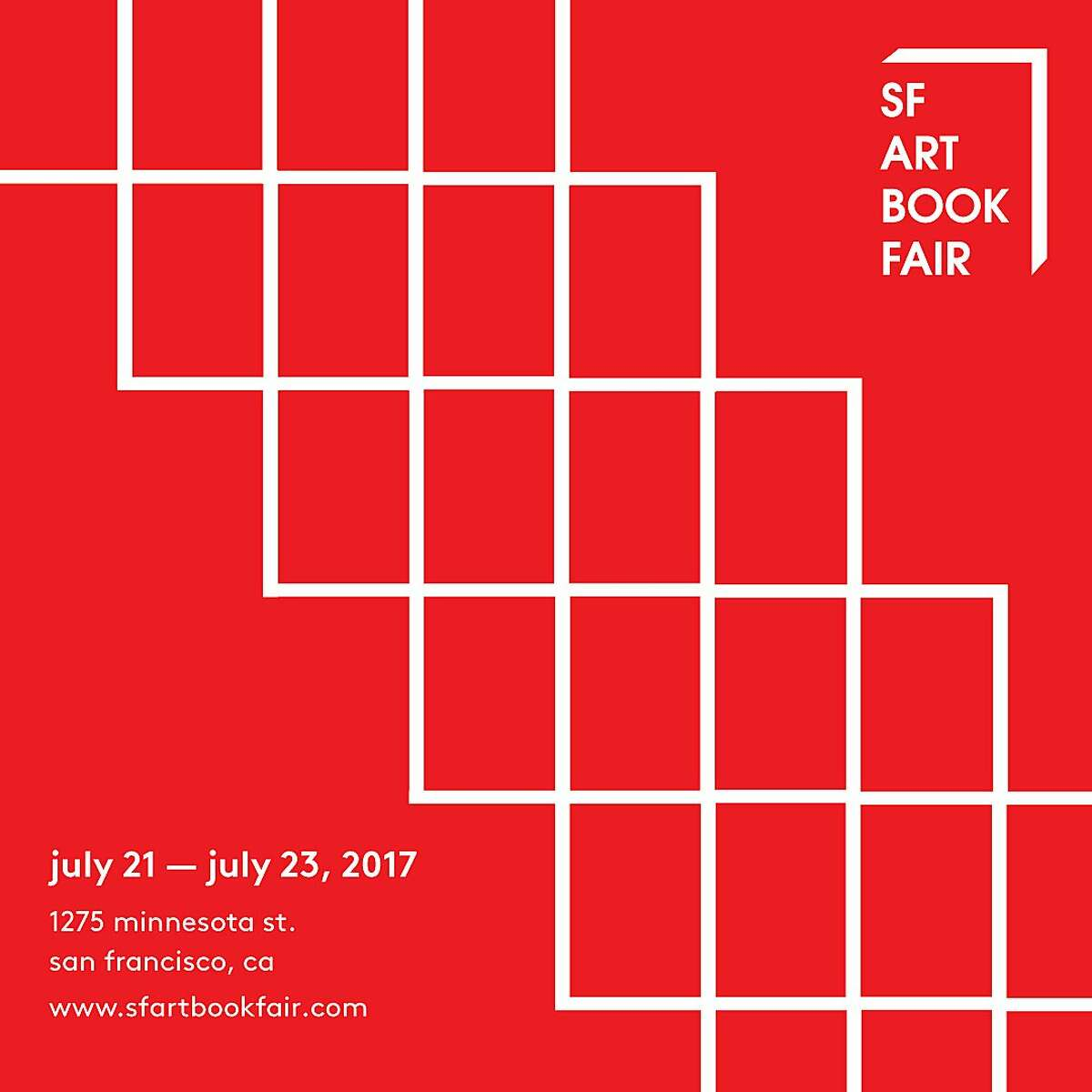 Promo material for second annual San Francisco Art Book Fair