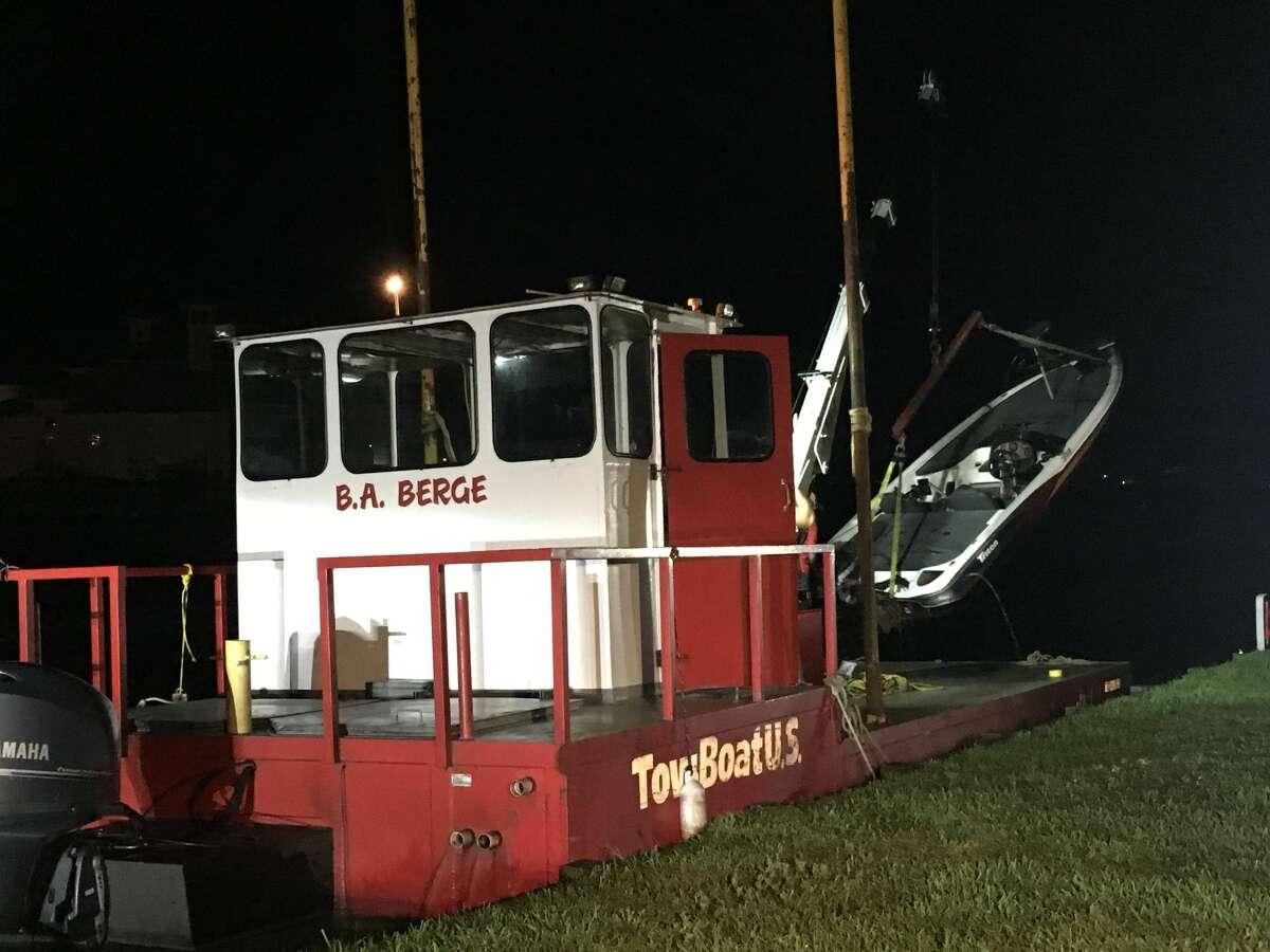 Authorities responded to the crash on the lake near the Diamondhead community off Texas 105.
