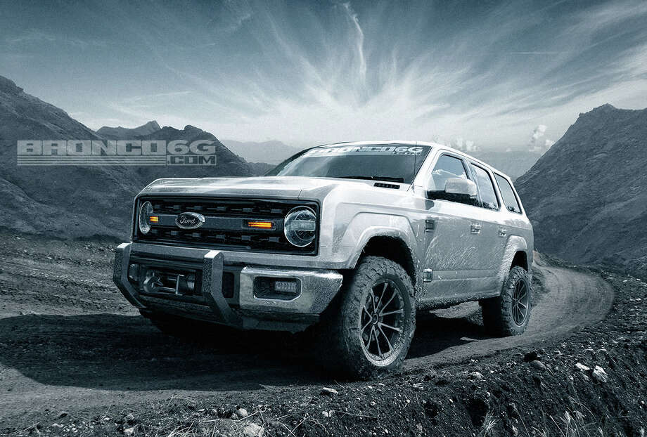 The website Bronco 6G released concept renderings of the 2020-2021 Ford Bronco four-door. Image source: Bronco 6G Photo: Bronco6G.com