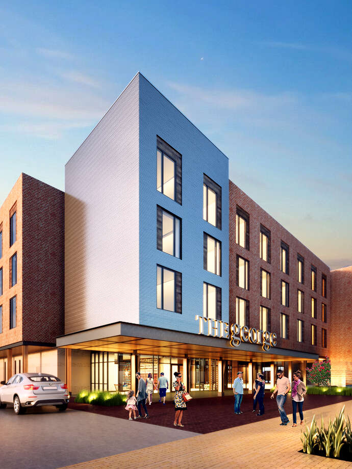 The George Hotel will open in August in Century Square at Texas A&M University. Photo: Midway