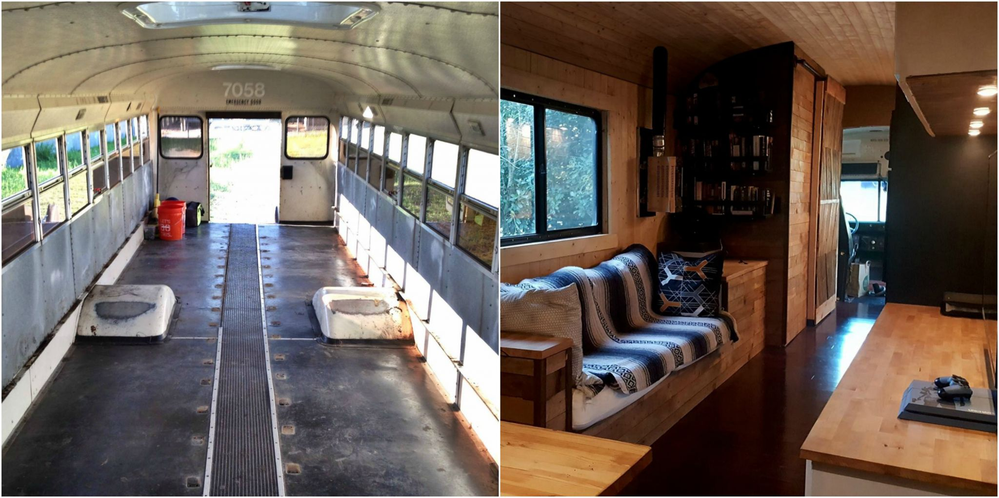 Austin Guy Spends 15k To Make A Tiny Home Out Of A School Bus