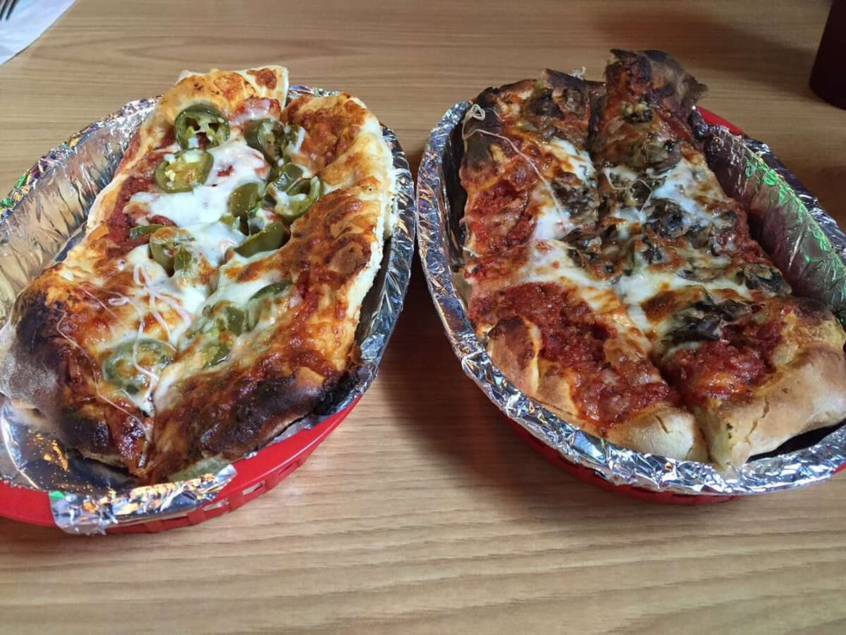 """Underground Pizza:202 N. Seguin Ave., New Braunfels """"Wow! This pizza is awesome!""""- Emily S. """"It was awesome. Unfortunately I ordered it to go, but when I went in to pick it up the atmosphere looked perfect."""" - James C."""