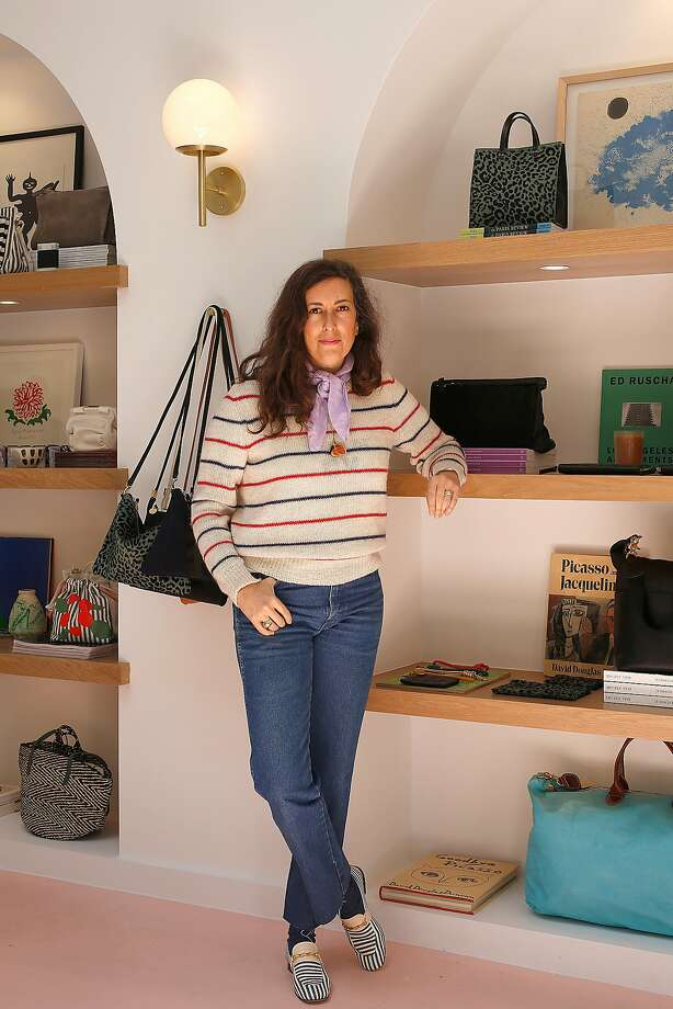 Handbag designer Clare Vivier opened Clare V., her first shop in S.F., recently. Photo: Liz Hafalia, The Chronicle