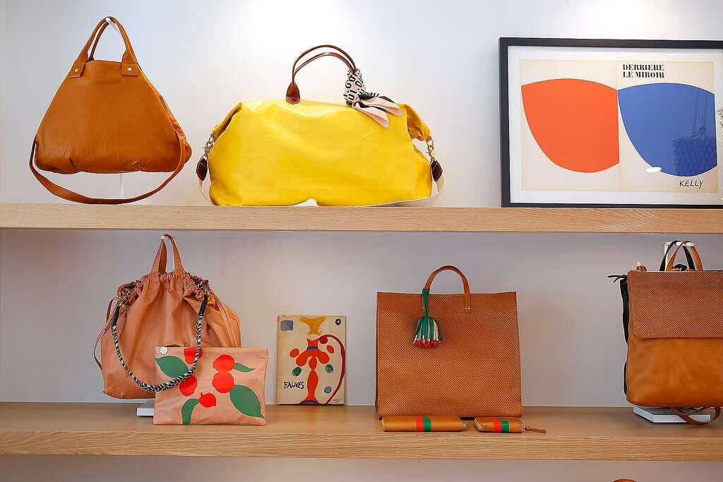 Bags Displayed At Clare V Handbag Boutique In Hayes Valley Photo Liz Hafalia