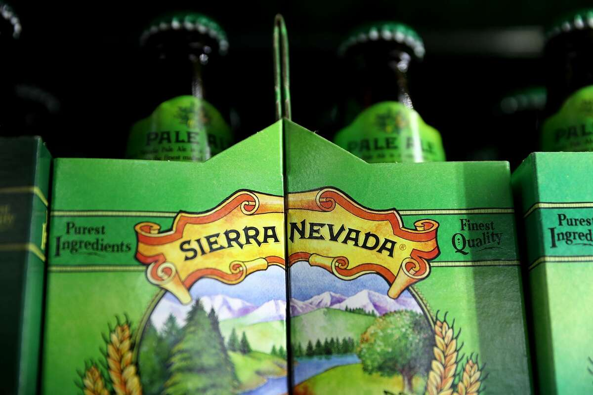 Bottles of Sierra Nevada Pale Ale are displayed on a shelf at Ringside Liquor on January 23, 2017 in Los Angeles, California.