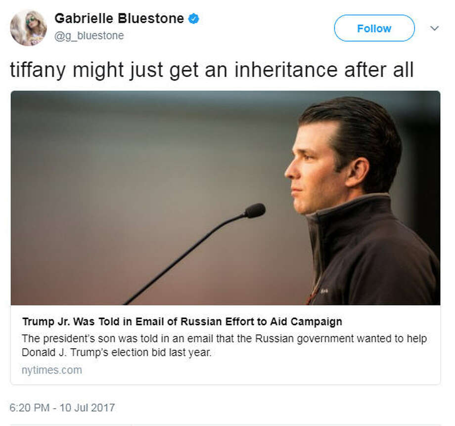 via @g_bluestone on TwitterSome people criticized and some supported Donald Trump Jr. See what people are saying on social media... Photo: Twitter
