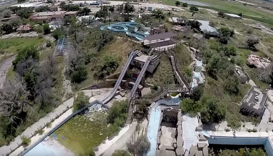 What used to be a West Texas treasure has since turned into a deserted water park. Water Wonderland in Midland-Odessa has been abandoned for 14 years. Photo: Courtesy Texas Drone Specialist