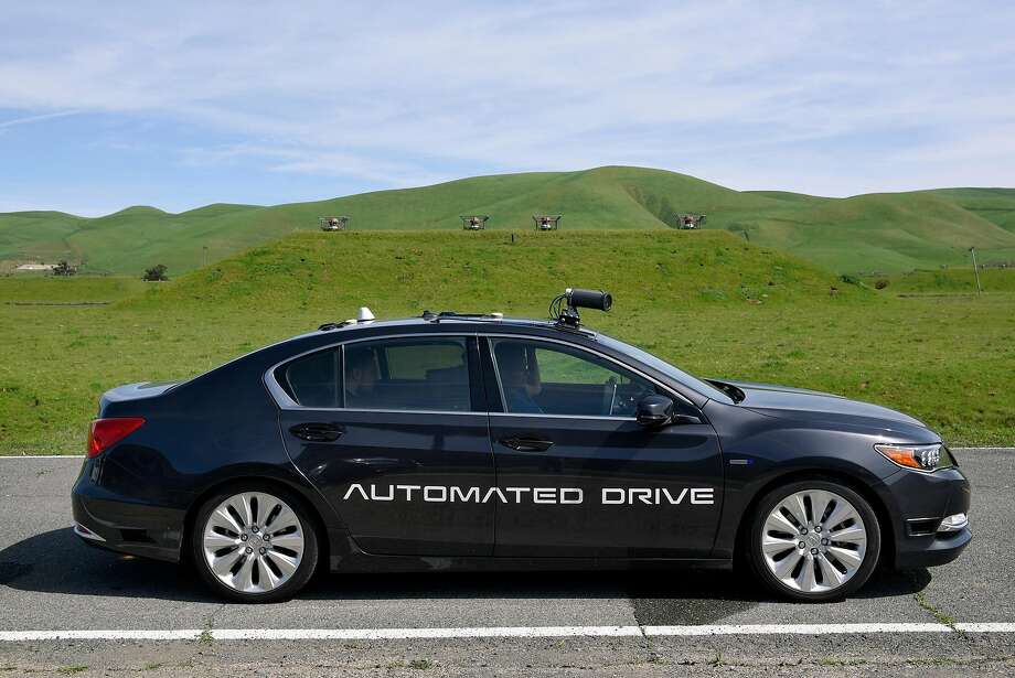 A self-driving Acura is put through its paces at GoMentum Station in Concord, which offers test tracks away from public roads. Photo: Michael Short, Special To The Chronicle