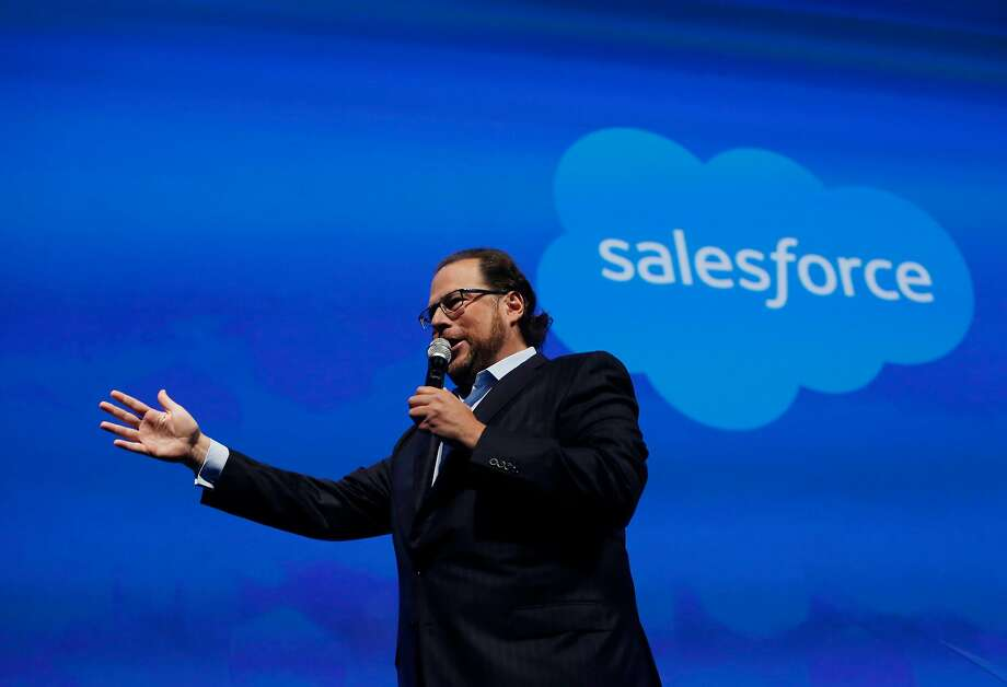 Salesforce CEO Marc Benioff won a 2016 award from the LGBT group GLAAD and has rallied other corporations to fight discriminatory legislation across the country. Photo: Lea Suzuki, The Chronicle