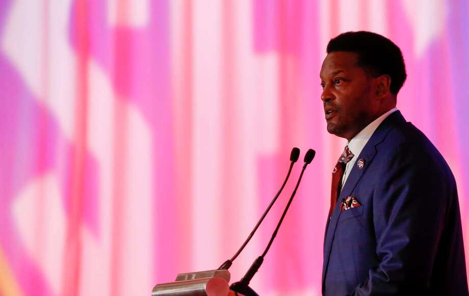 Texas A&M NCAA college football coach Kevin Sumlin speaks during the Southeastern Conference's annual media gathering, Wednesday, July 12, 2017, in Hoover, Ala. (AP Photo/Butch Dill) Photo: Butch Dill, FRE / Associated Press