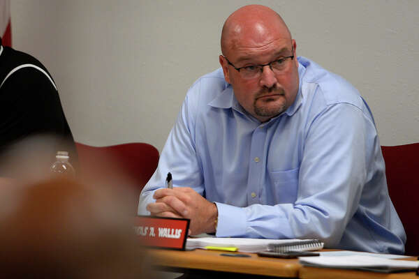 Kirbyville CISD superintendent Tommy Wallis listens during the board meeting on Monday evening.  Photo taken Monday 6/19/17 Ryan Pelham/The Enterprise