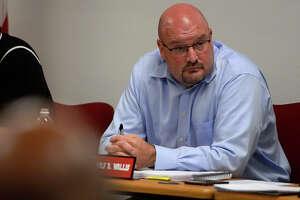 Kirbyville CISD superintendent Tommy Wallis listens during the board meeting on Monday evening.  Photo taken Monday 6/19/17 Ryan Pelham/The Enterprise