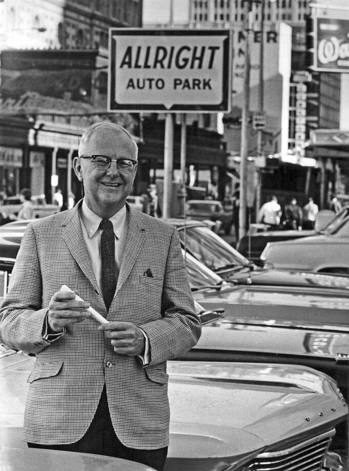 The father of the Houston parking business, Durell M. Carothers, graduated from Rice University in 1930 and began managing downtown Houston lots owned by an uncle. He took over the company upon the death of his uncle. Photo: Tom Colburn, HC Staff / Houston Chronicle