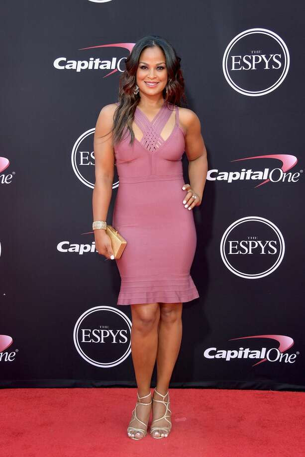 Best: Boxer Laila Ali, wore the perfect color. She is gorgeous! Keep clicking to see which celebrity athletes were named the best and worst dressed of the 2017 ESPYs. Photo: Matt Winkelmeyer/Getty Images
