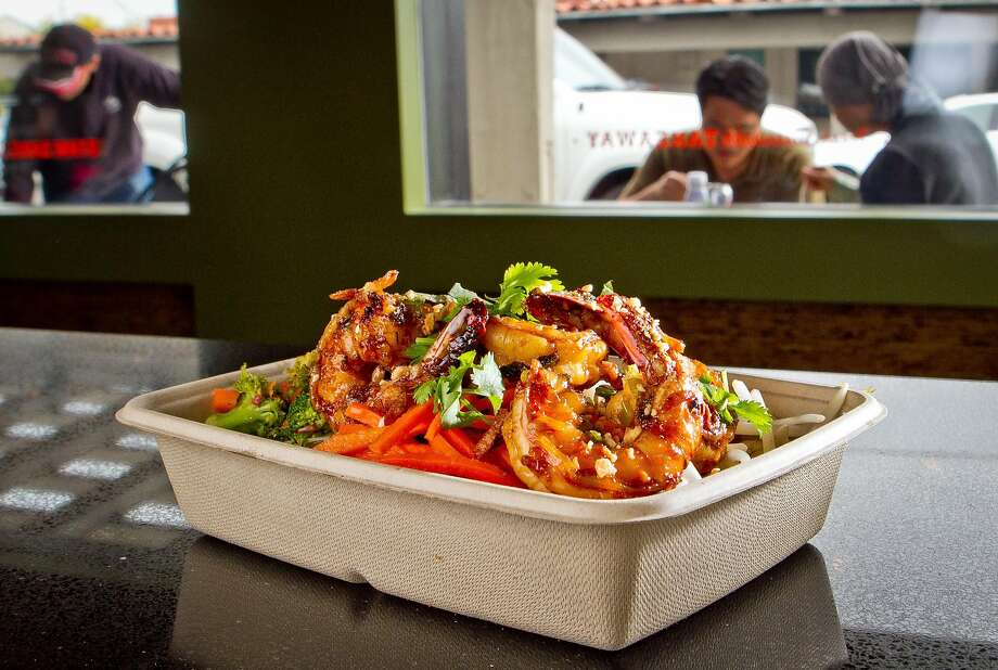 Basil Lime Shrimp at Asian Box. Photo: John Storey, Special To The Chronicle