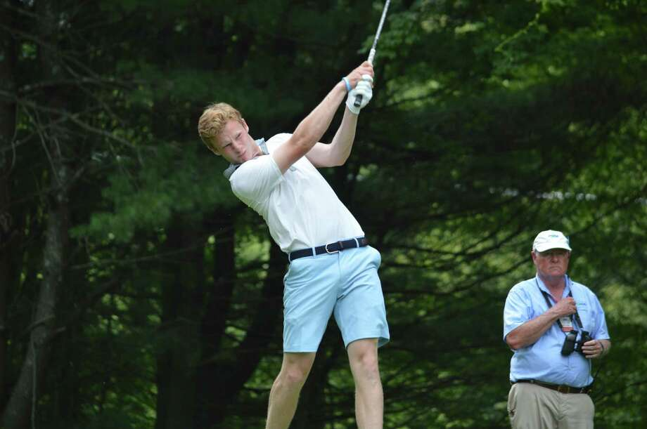 Ridgefield's Andrew Franz tees off on Day 3 of the 76th Connecticut Junior Amateur at Watertown Golf Club on Wednesday, July 12, 2017. Franz advanced to Thursday's championship match. Photo: Contributed Photo / Contributed Photo / Greenwich Time Contributed