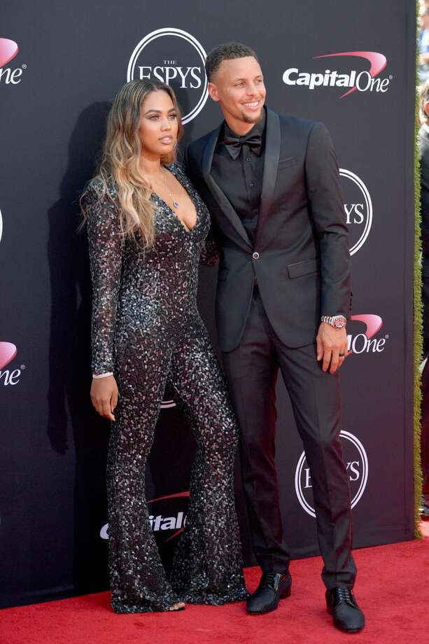 NBA player Steph Curry (R) and Ayesha Curry attend The 2017 ESPYS at Microsoft Theater on July 12, 2017 in Los Angeles, California.  Ayesha Curry opened up about her relationship and insecurities on a talk show and later addressed some of the criticism she received afterwards. Photo: Matt Winkelmeyer/Getty Images