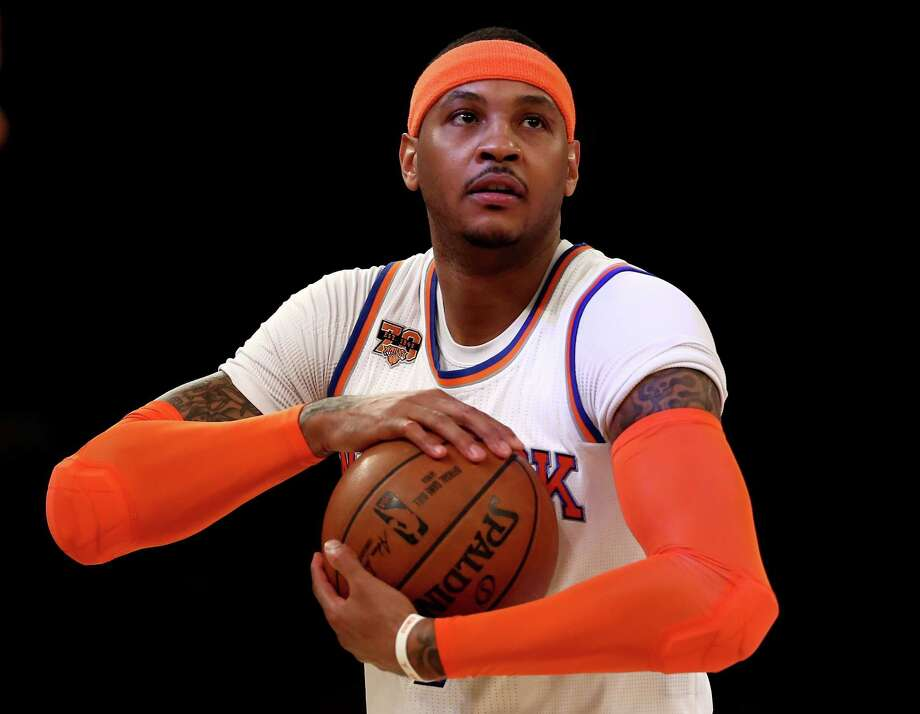 Carmelo Anthony, headed for Mike D'Antoni's Houston Rockets?  Photo: Elsa, Staff / 2017 Getty Images
