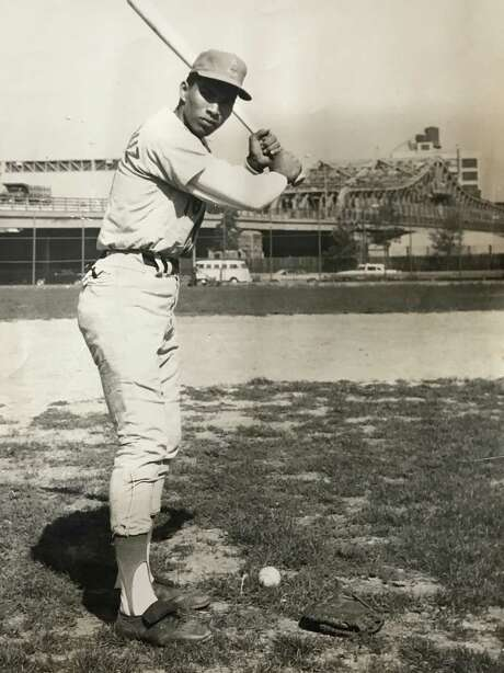 Jose Cruz strikes a pose in the late 1960s while playing at Schaefer Park in New York.