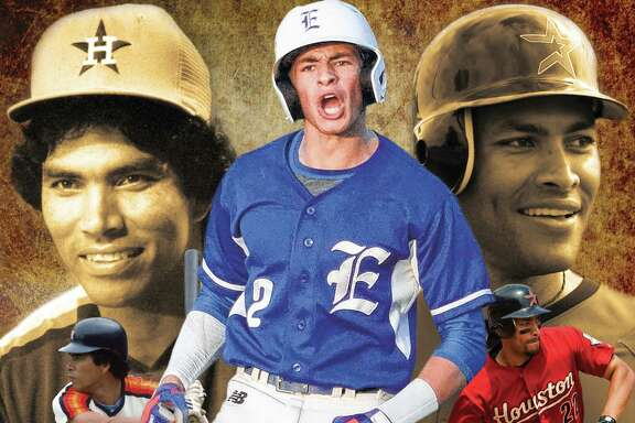 After excelling at Episcopal, Trei Cruz, center, was drafted last month by the Astros, where his grandfather, Jose Cruz, left, starred. But Trei has delayed any professional goals to attend Rice where his dad, Jose Jr., was a three-time All-American.