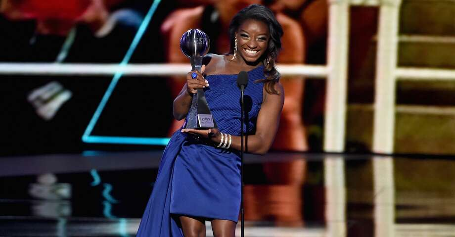 LOS ANGELES, CA - JULY 12:  Olympic gymnast Simone Biles accepts the Best Female Athlete award onstage at The 2017 ESPYS at Microsoft Theater on July 12, 2017 in Los Angeles, California.  (Photo by Kevin Winter/Getty Images) Photo: Kevin Winter/Getty Images