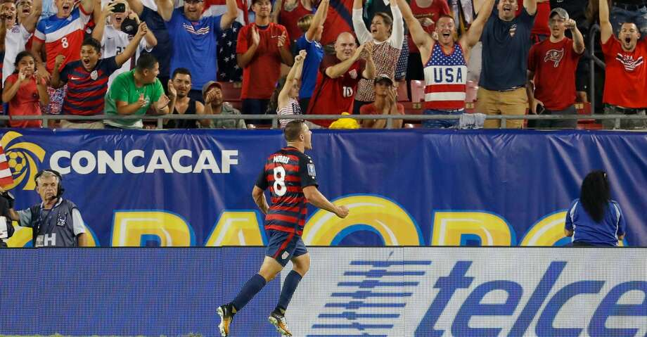 TAMPA, FL - JULY 12:  Jordan Morris #8 of the United States celebrates a goal against Martinique during the second half of the CONCACAF Group B match at Raymond James Stadium on July 12, 2017 in Tampa, Florida. (Photo by Mike Carlson/Getty Images) Photo: Mike Carlson/Getty Images