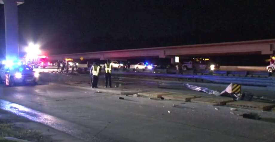A 15-year-old boy died late Wednesday after his 18-year-old brother lost control of the car he was driving on the Tomball Parkway and slammed into a guard rail. (Metro Video) Photo: Metro Video