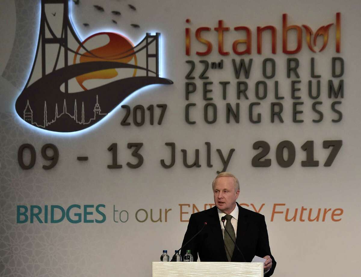 BP Chief Executive Officer Bob Dudley addresses The 22nd World Petroleum Congress in Istanbul on Wednesday.