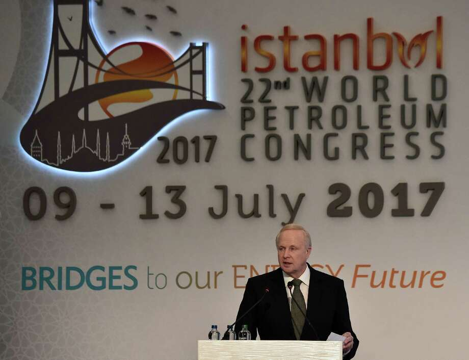 BP Chief Executive Officer Bob Dudley addresses The 22nd World Petroleum Congress in Istanbul on Wednesday. Photo: OZAN KOSE, AFP/Getty Images / AFP or licensors