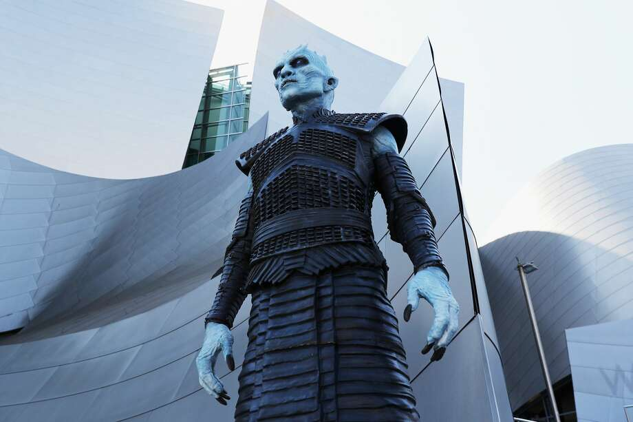"LOS ANGELES, CA - JULY 12: A white walker attends the premiere of HBO's ""Game Of Thrones"" season 7 at Walt Disney Concert Hall on July 12, 2017 in Los Angeles, California.  (Photo by Neilson Barnard/Getty Images) Photo: Neilson Barnard/Getty Images"