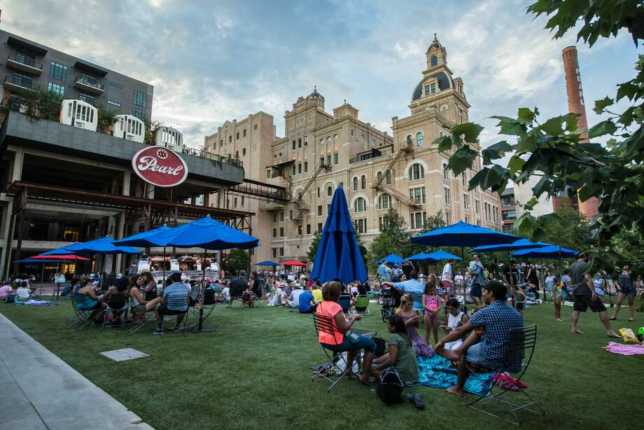 The Pearl's lively summer event series 'Sound Cream Sunset Sessions' continued on July 12, 2017, where partygoers enjoyed beats from DJ Patio Wine. The mixed-use community has become a magnet for both residents and tourists. Photo: Kody Melton, For MySA.com