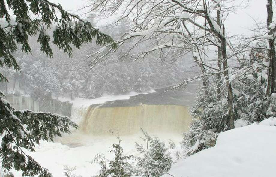 Judy Enger photographed 'Tahquamenon Falls in Winter.'