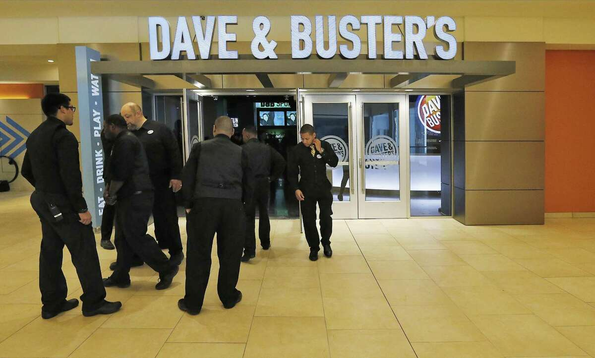 Dave & Busters employees undergo training during a pre-opening celebration for the staff at the Shops at RiverCenter in San Antonio last year. The chain will open in Milford in 2018.