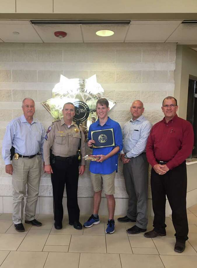 The Katy Police Department shared a photo of themselves congratulating Zack Randolph for his deed.