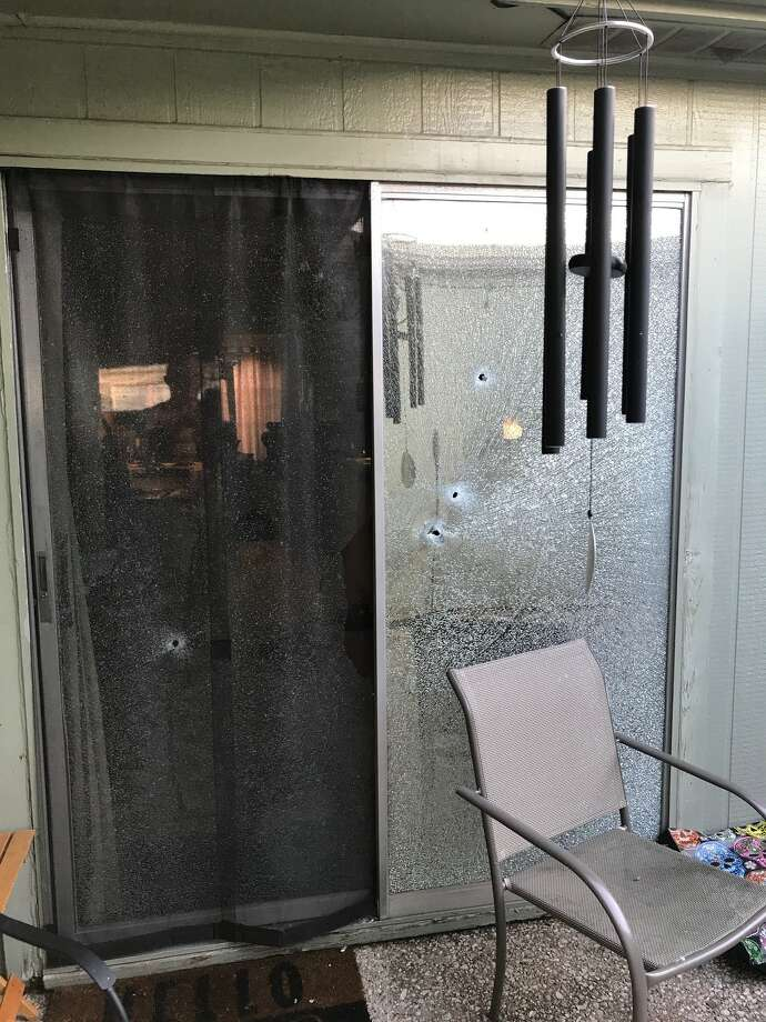 Bullet holes found inside the home of 49-year-old Thad King after an attempted burglary at his Beaumont home on Wednesday morning. Photo: Thad King