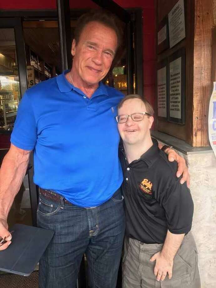 """On Wednesday, Arnold Schwarzenegger visited Rudy's Bar-B-Q in South Austin in which the terminator deemed, """"the best of the best."""" Photo: Courtesy Rudy's Bar-B-Q"""