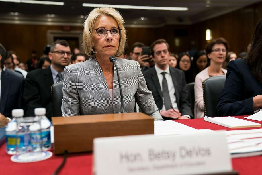 Education Secretary Betsy DeVos is reviewing a federal crackdown on campus sex assaults. Photo: DOUG MILLS, NYT