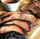 Smoked brisket from the Ellis Brothers BBQ pop-up.